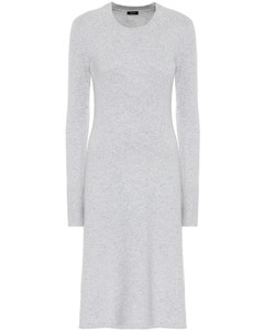 羊絨混紡中長連衣裙