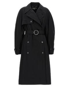 黑色肩部开口连衣裙