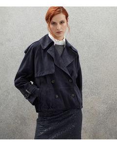 Cypress绗缝再生格子布羽绒夹克