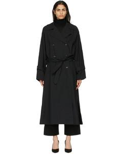 黑色Techno风衣
