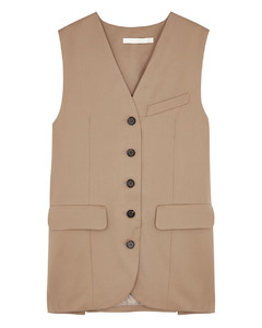 Camel wool vest