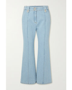 Navy polka-dot draped satin skirt