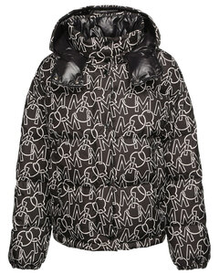 Daos All Over Logo Print Down Jacket