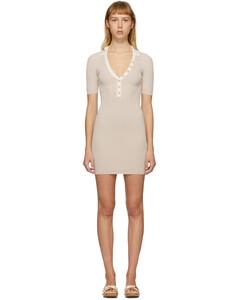 SSENSE发售驼色&灰白色La Robe Polo连衣裙