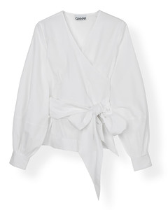 GREEN RECYCLED WOOL V-NECK PULLOVER