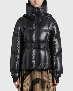 Puffer Jacket With Waist Belt