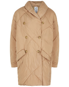 Ella sand quilted shell coat