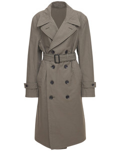 Oversize Cotton Drill Trench Coat