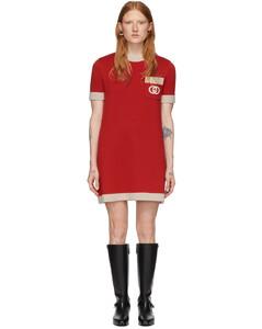 红色GG针织羊毛连衣裙