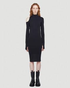 Cut-Out Dress in Black