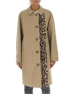 Leopard Print Detailed Car Coat