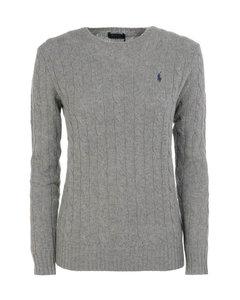 Cable knit merino cashmere sweater