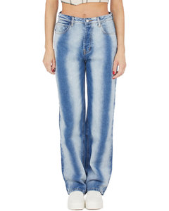 Flared Denim Jeans - Blue