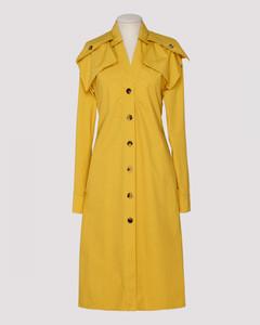 Yellow popeline dress