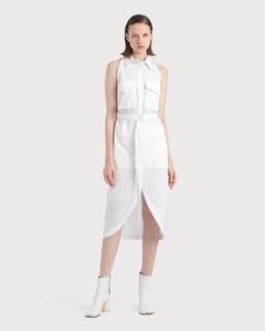 Cotton Shirt Dress With Collar