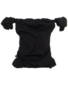 Woman Off-the-shoulder Draped Taffeta Top