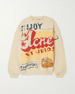 Grant Levy-lucero Oversized Printed Organic Cotton-jersey Sweatshirt