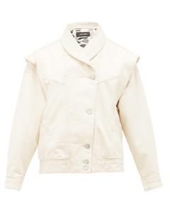 Eriala detachable-sleeves denim jacket