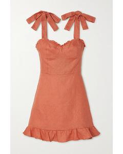 Desiree Ruffled Linen Mini Dress