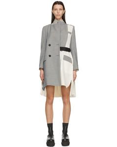 灰色&白色Suiting大衣