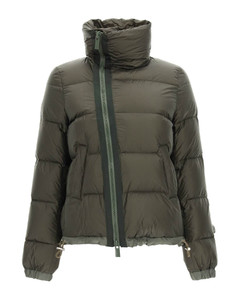 SHORT DOWN JACKET WITH OFF-CENTER ZIP