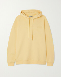 Software Oversized Embroidered Recycled Cotton-blend Jersey Hoodie