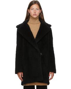 黑色Fiocco大衣