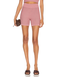 Knit Shorts in Pink