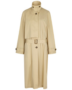 Sand cotton-blend trench coat