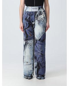 Zigzag metallic-knit kaftan