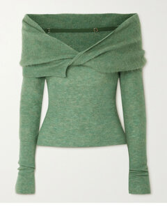 Ascua Off-the-shoulder Knitted Sweater