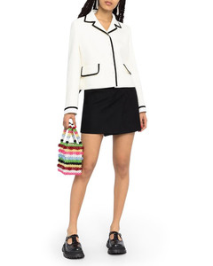 contrast-trim knitted jacket