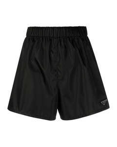 triangle logo track shorts