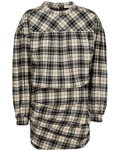 Faber Wooly Check Cotton Blend Dress
