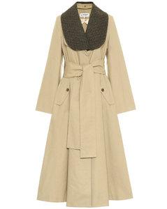 棉质斜纹布大衣