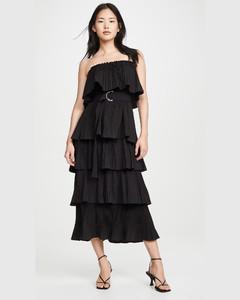 Valentina荷葉邊連衣裙