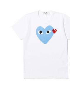 Double heart logo tee