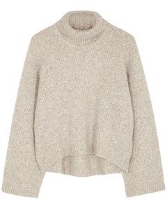 Ravenna oatmeal wool-blend jumper