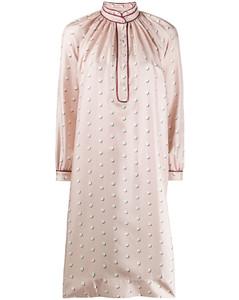 polka dot silk shirt dress