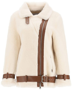 Pea Coats Stand for Women Off White Brown