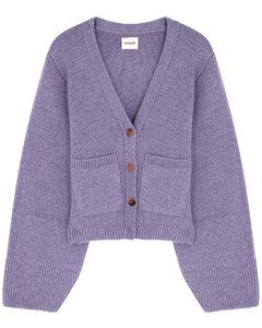 Scarlet purple cashmere cardigan