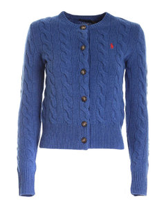 Branded cardiganin Melange blue