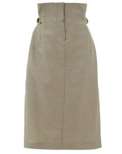 Ippy paper-bag wool-twill skirt