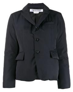 单排扣羽绒西装夹克