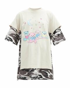 Love Bear camouflage-print cotton-jersey T-shirt