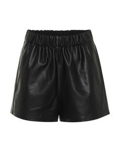 人造皮革短裤