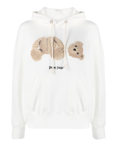 Teddy Bear patch cotton hoodie