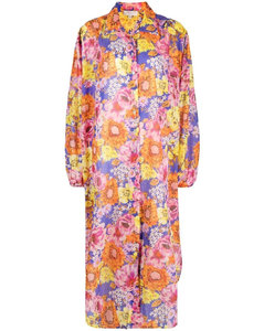 Bedu pleated and flared crepe gilet