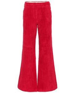 High-rise wide leg corduroy pants
