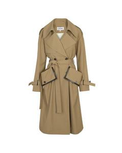 Flap pocket trench coat